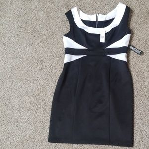 NWT NY & Co black and white dress